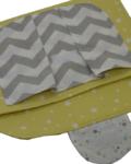 θήκη για πάνες και μωρομάντηλα αστεράκια κίτρινα 2a
