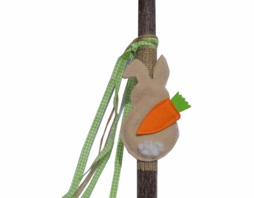 πασχαλινή λαμπάδα κουνελάκι με καρότο
