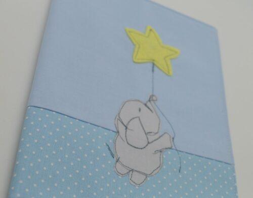 θήθήκη βιβλιαρίου ελεφαντάκι με αστεράκικη βιβλιαρίου ελεφαντάκι με αστεράκι