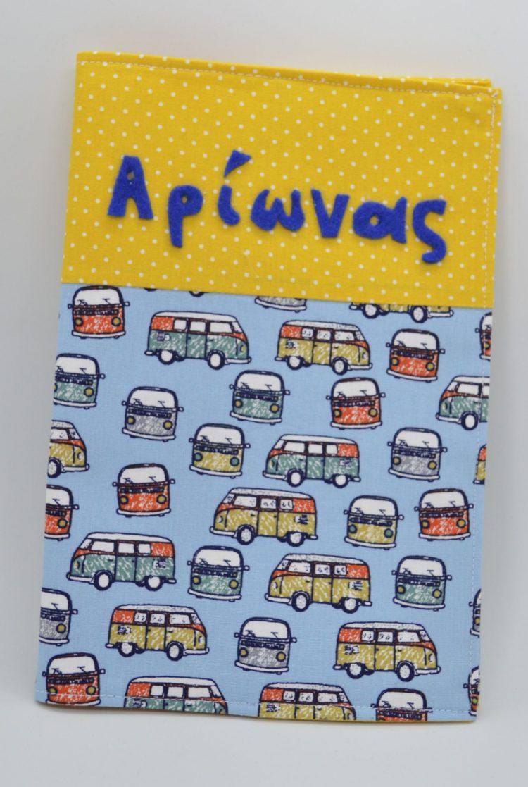 Θήκη βιβλιαρίου υγείας με λεωφορεία volkswagen