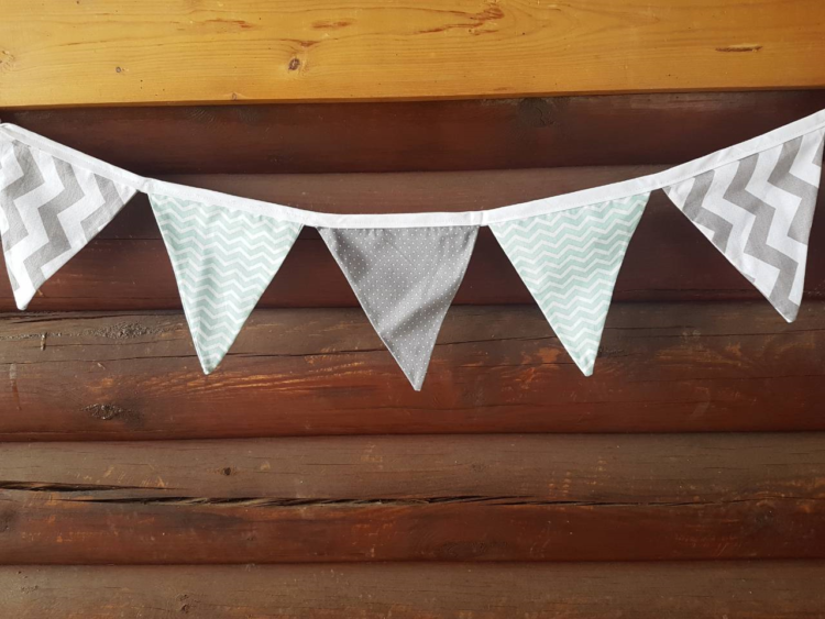 Mint grey banner FeltInLove