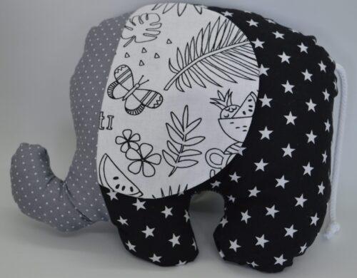 Κουκλάκι ασπρόμαυρο ελεφαντάκι