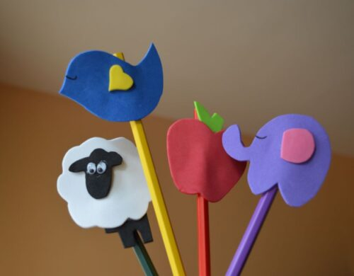 Pencil Toppers by Felt In Love