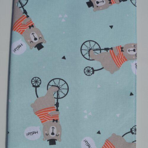 θήκη βιβλιαρίου αρκουδάκι ποδηλάτης