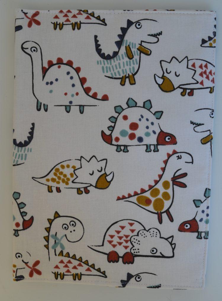 θήκη βιβλιαρίου υγείας δεινοσαυράκια μπεζ