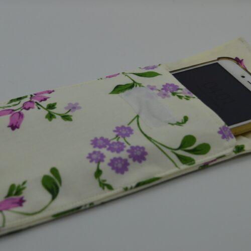 θήκη κινητού φλοράλ μωβ