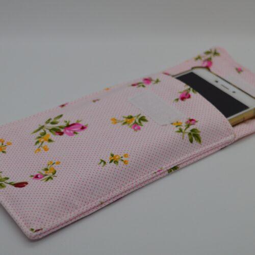 θήκη κινητού φλοράλ ροζ