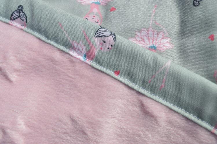 κουβερτάκι αγκαλιας μπαλαρίνες ροζ μινκυ