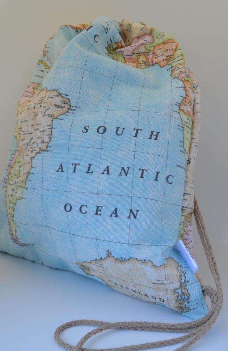 backpack χάρτης μπλε