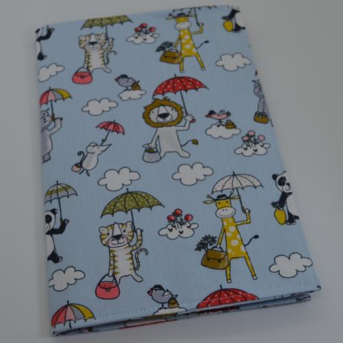 θήκη βιβλιαρίου υγείας ζωάκια με ομπρέλες