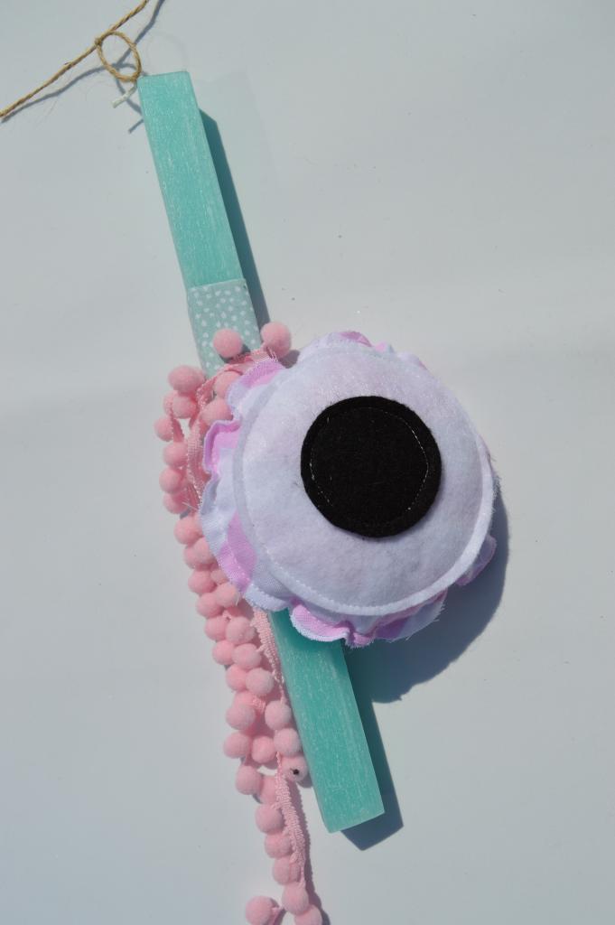 λαμπάδα ροζ μάτι