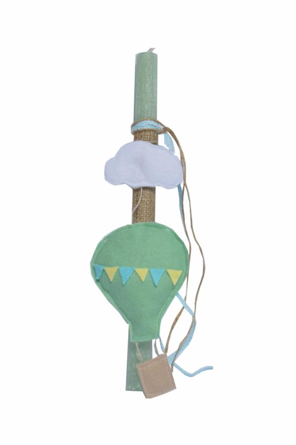 πασχαλινή λαμπάδα αερόστατο με συννεφάκι