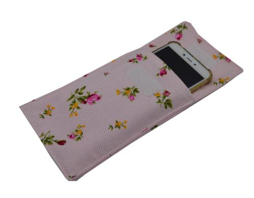 θήκη κινητού φλοράλ ροζ 4a