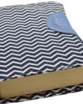 θήκη βιβλίου ζιγκ ζαγκ μπλε 2a