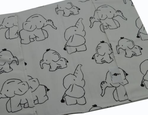 θήκη βιβλιαρίου υγείας ελεφαντάκι ασπρόμαυρο 3