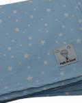 σετ 2 σεντονια για βρεφική κούνια γαλάζιο με αστεράκια