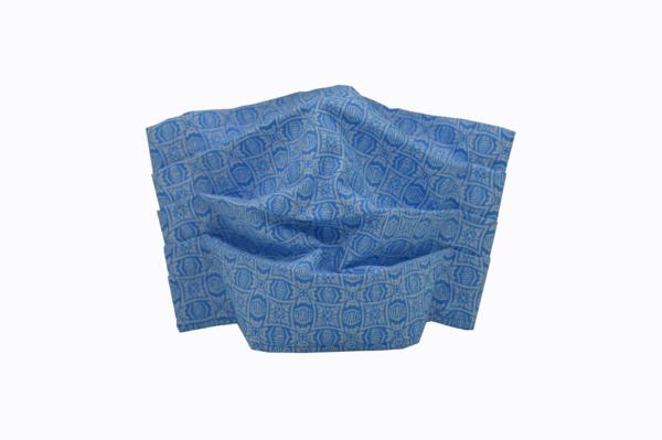 υφασμάτινη μάσκα γαλάζια με σχήματα
