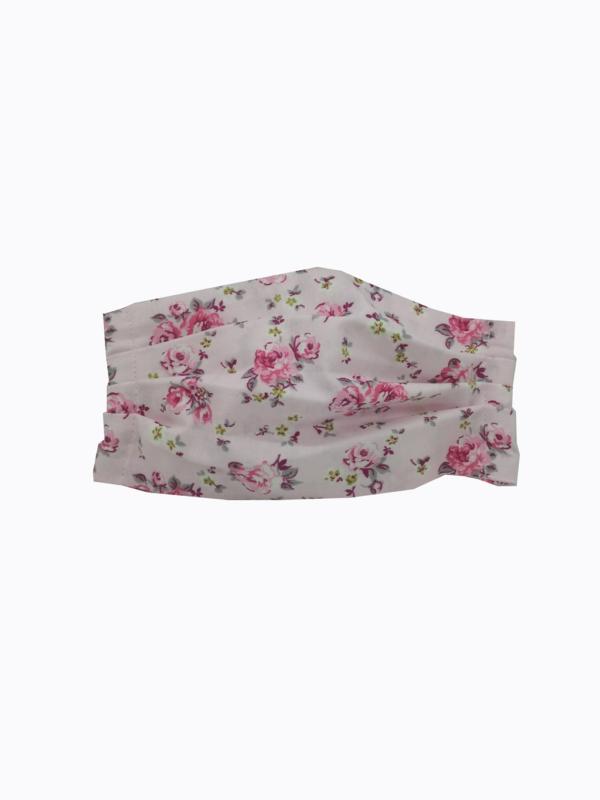 υφασμάτινη μάσκα ροζ τριαντάφυλλα