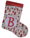 χριστουγεννιάτικη κάλτσα με μονόγραμμα Santa Claus