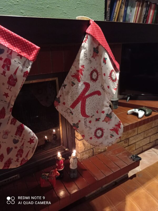 χριστουγεννιάτικες κάλτσες με μονόγραμμα 3