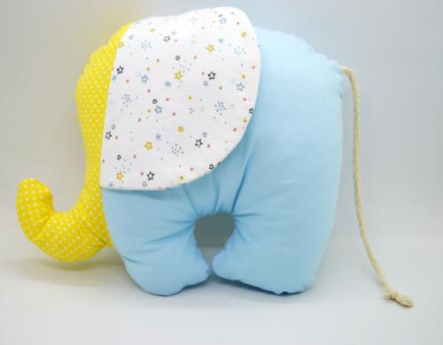 ελεφαντάκι γαλάζιο με κίτρινο 1a