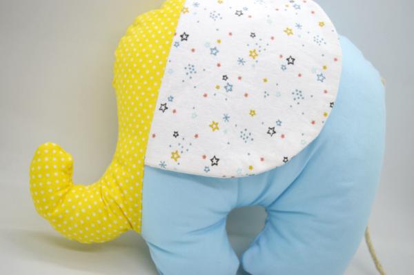 ελεφαντάκι γαλάζιο με κίτρινο 2a