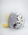 ελεφαντάκι κίτρινο με γκρι αστεράκια a