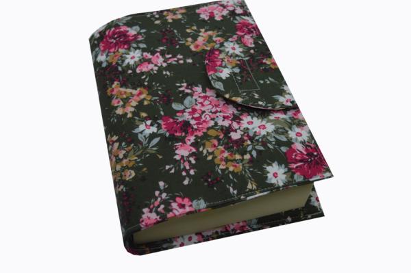 θήκη βιβλίου χακί φλόραλ