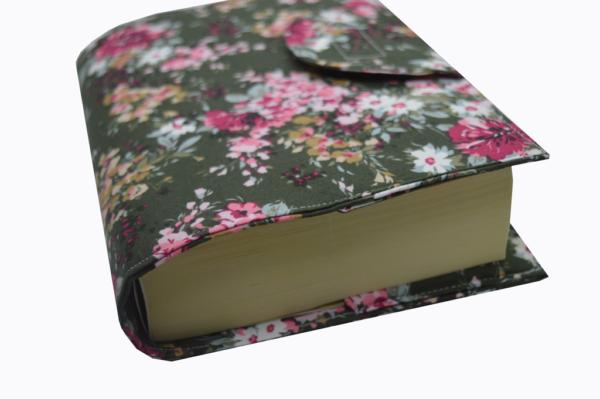 θήκη βιβλίου χακί φλόραλ 4