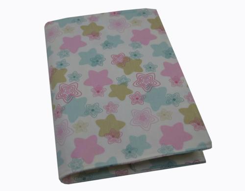 θήκη βιβλιαρίου αστεράκια ροζ βεραμαν μπεζ 1a