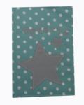 θήκη βιβλιαρίου αστεράκι γκρι με βεραμαν