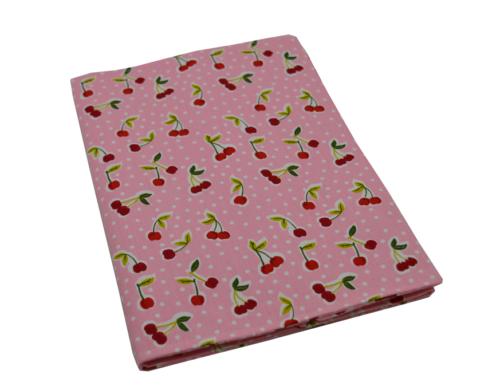 θήκη βιβλιαρίου ροζ με κερασάκια 3