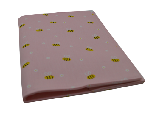 θήκη βιβλιαρίου ροζ με μελισσούλες 1