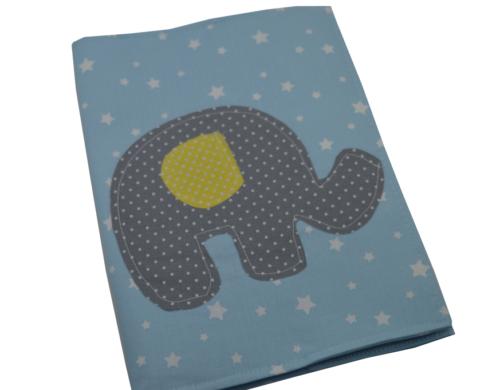 θήκη βιβλιαρίου υγείας γαλάζια αστεράκια με ελεφαντάκι a
