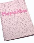 θήκη βιβλιαρίου υγείας ροζ με γκλίτερ αστεράκια