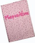 θήκη βιβλιαρίου υγείας ροζ με γκλίτερ αστεράκια 1