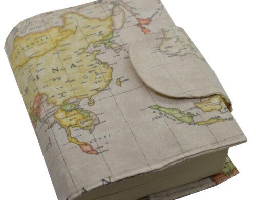 θήκη βιβλίου καφέ χάρτης 1