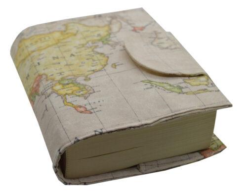 θήκη βιβλίου καφέ χάρτης 2