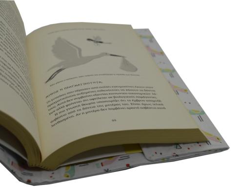 θήκη βιβλίου ροζ και βεραμαν πουλάκια 1