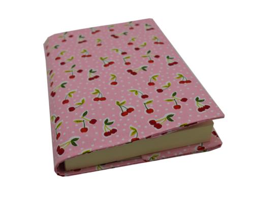θήκη βιβλίου ροζ με κερασάκια 1