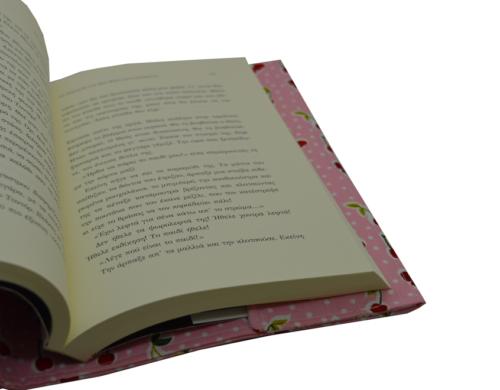 θήκη βιβλίου ροζ με κερασάκια