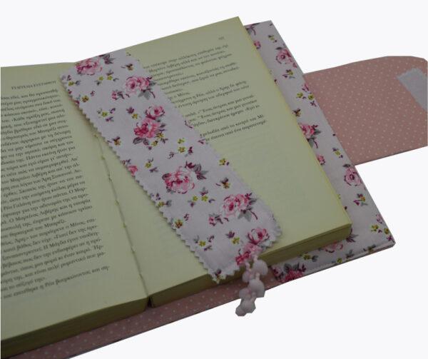 θήκη βιβλίου ροζ με τριαντάφυλλα 3