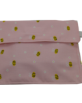 θήκη σνακ τοστ ροζ με μελισσούλες-4