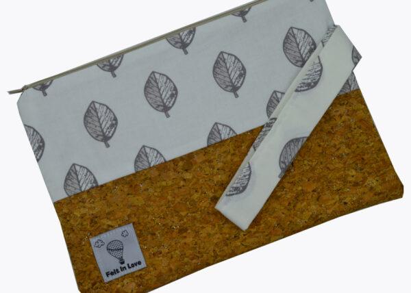 νεσεσερ με φελλό ασημόσκονη και φύλλα 3