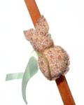 πασχαλινή λαμπάδα κουνελάκι φλοραλ μπεζ