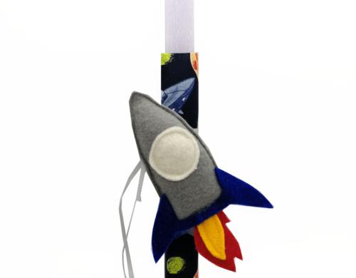 πασχαλινή λαμπάδα πύραυλος