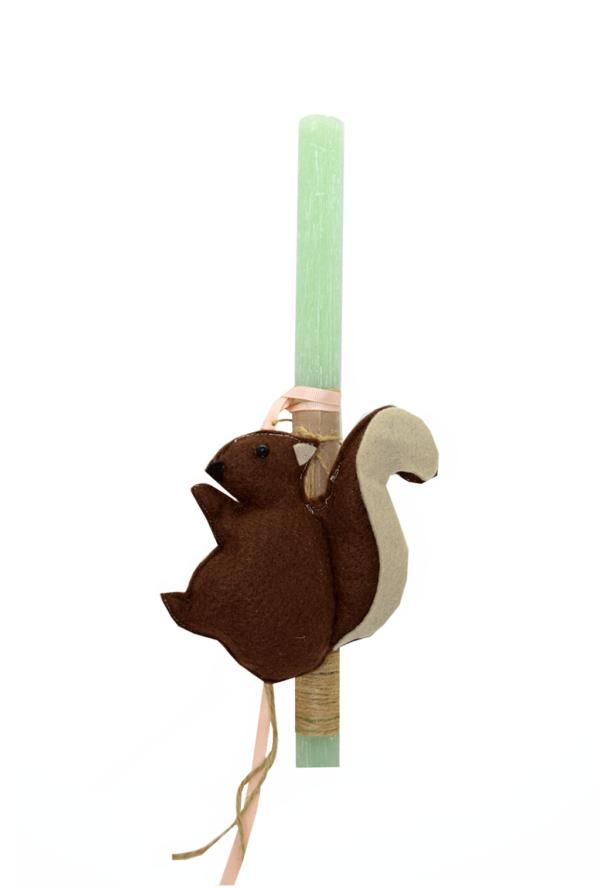 πασχαλινή λαμπάδα σκιουράκι