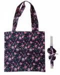 πασχαλινή λαμπάδα με τσάντα και scrunchies φλοραλ μαύρη