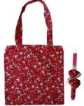πασχαλινή λαμπάδα με τσάντα και scrunchies φλοραλ κόκκινο